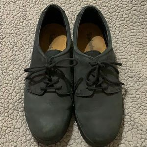 Timberland Black Laced Oxfords Excellent